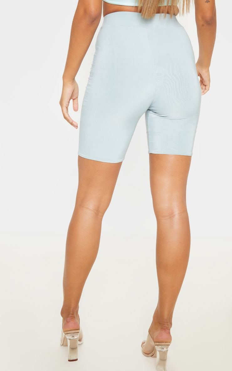 Mint High Waist Slinky Cycling Shorts 4