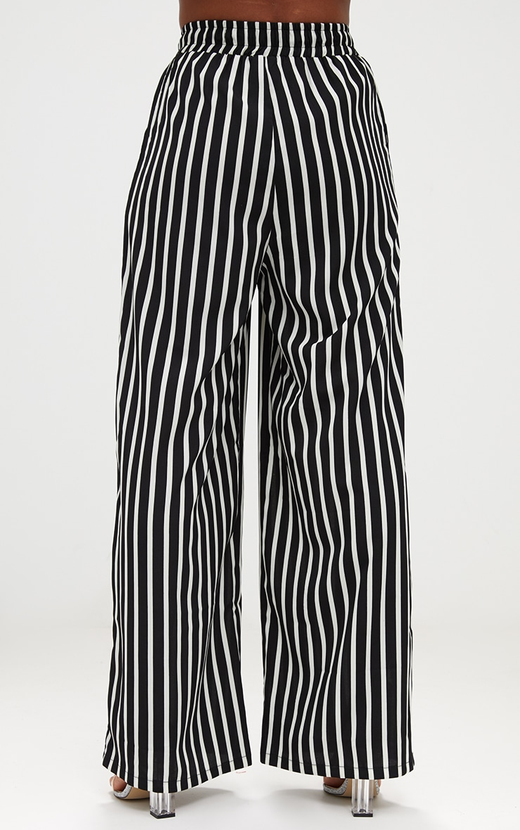 Monochrome Stripe Wide Leg Trousers 4