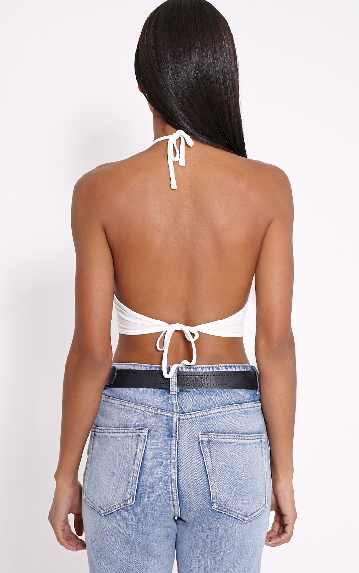 Hildy White 'Good Vibes' Crop Top 2