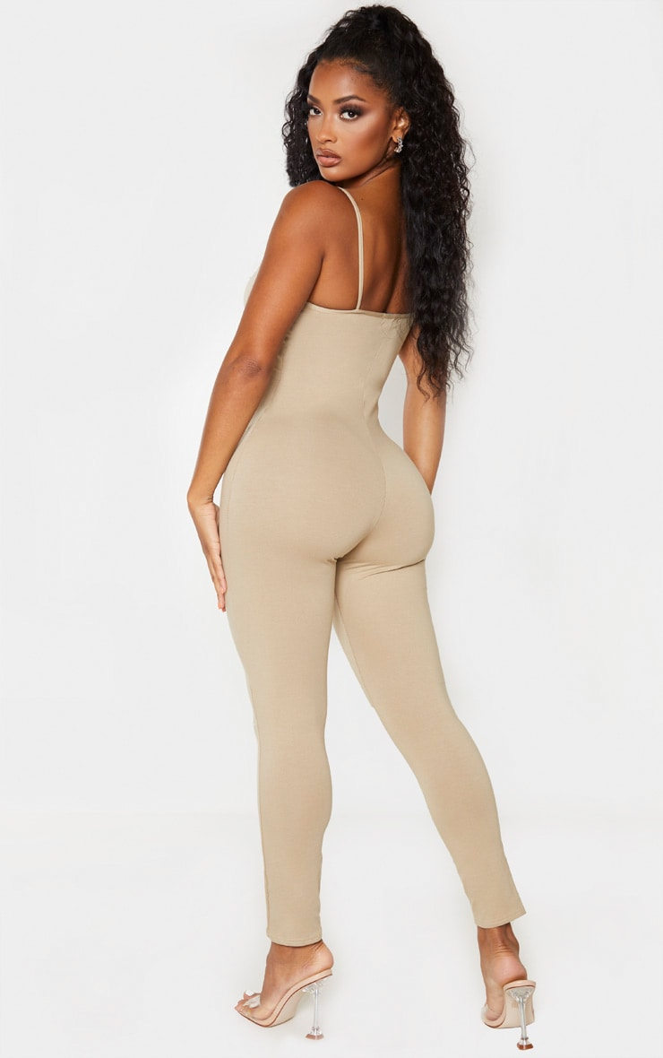 Shape Stone Cotton Strappy Jumpsuit 2