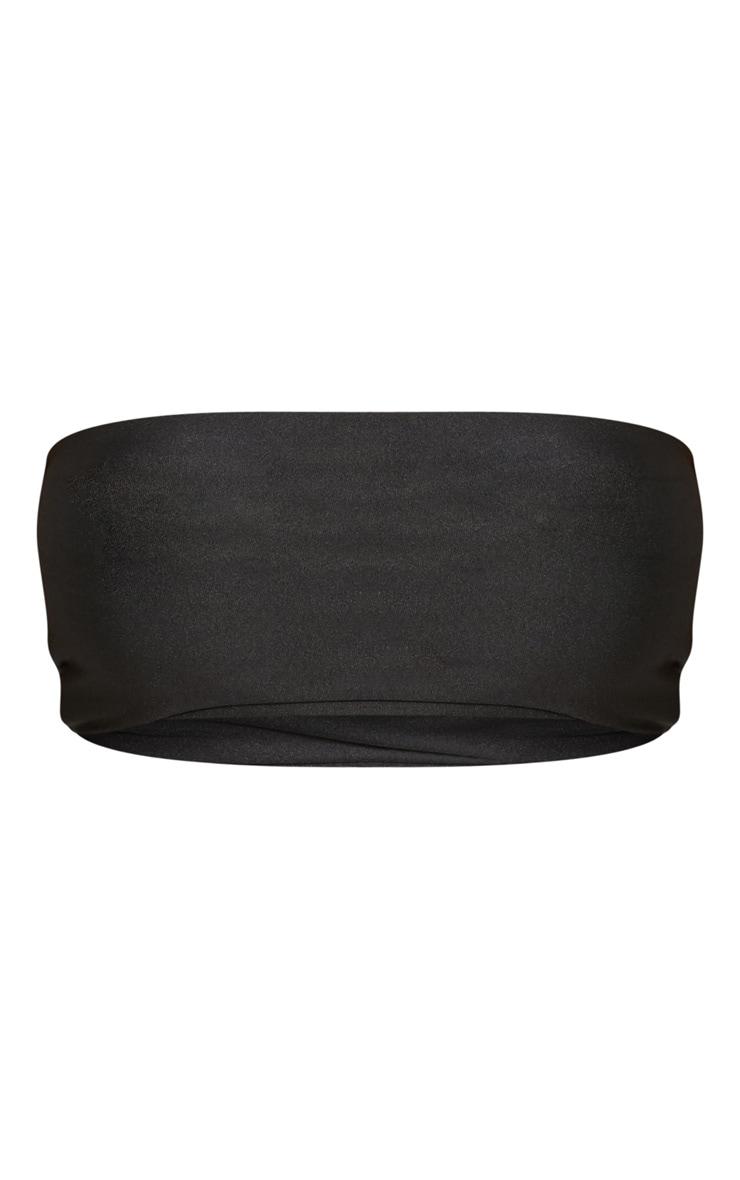 Shape Black Strapless Bikini Top 6