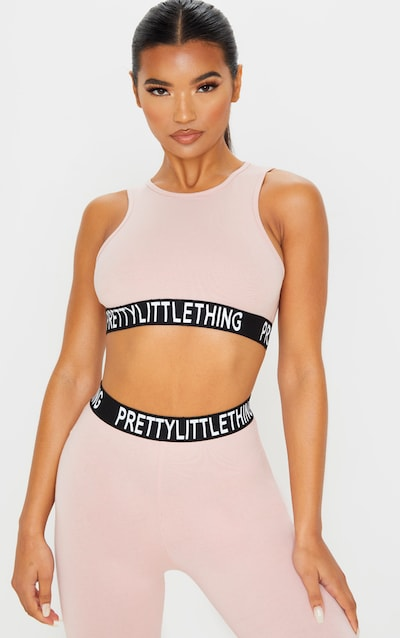 PRETTYLITTLETHING Dusty Rose Racer Neck Sleeveless Crop Top