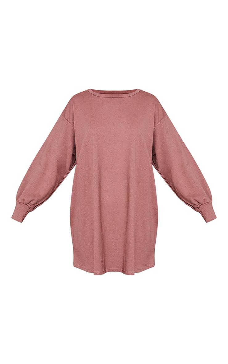 Dark Mauve Oversized Sweater Dress 6