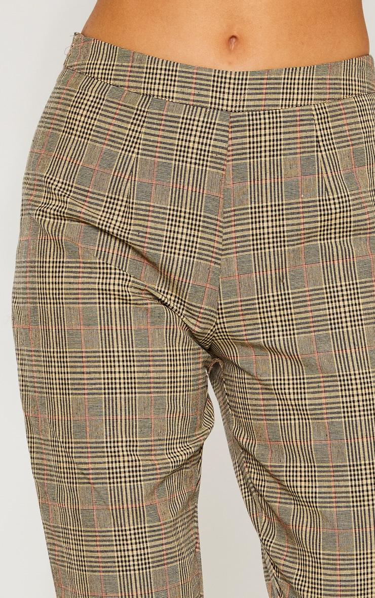 Tall - Pantalon droit marron imprimé carreaux 5