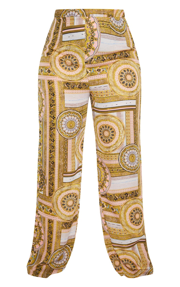 Plus Multi Chain Print Wide Leg Trouser  3