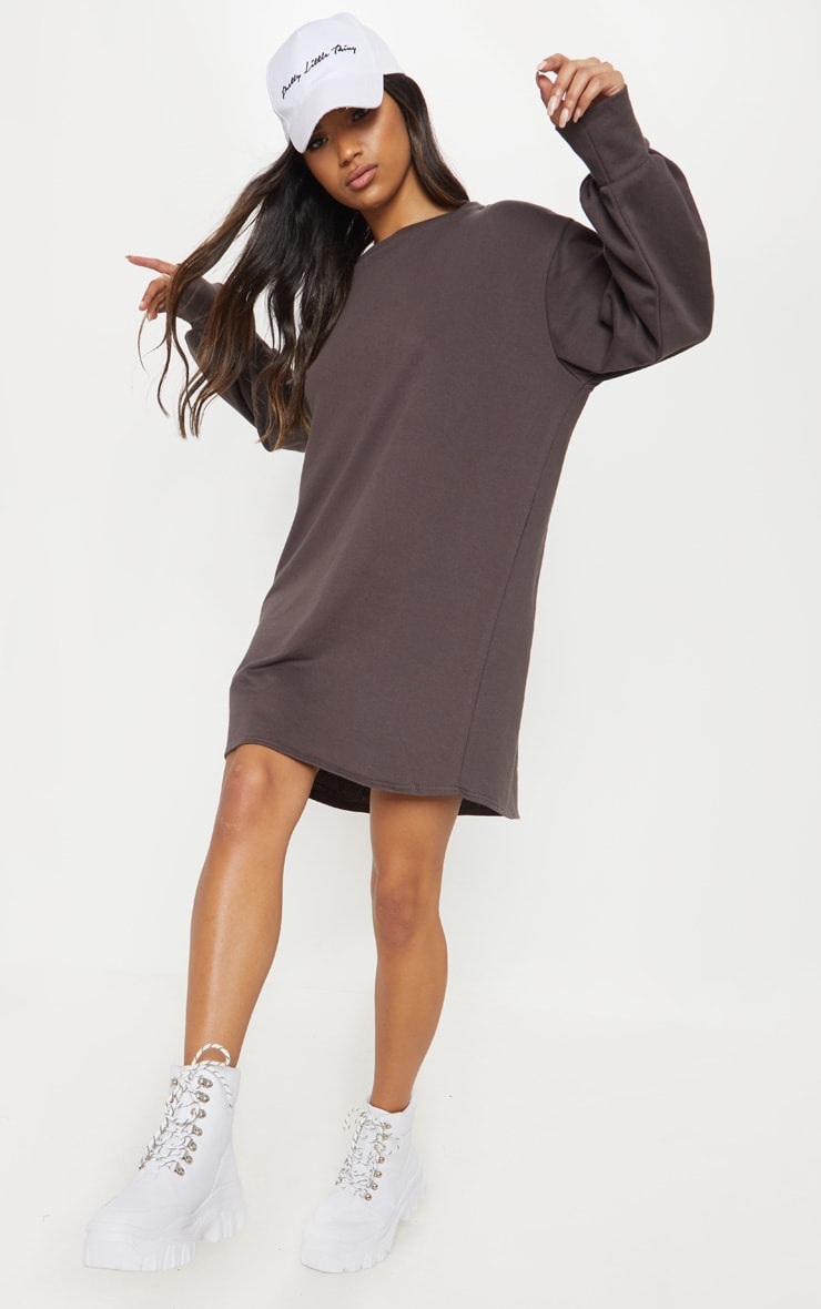 Chocolate Sweater Jumper Dress 4