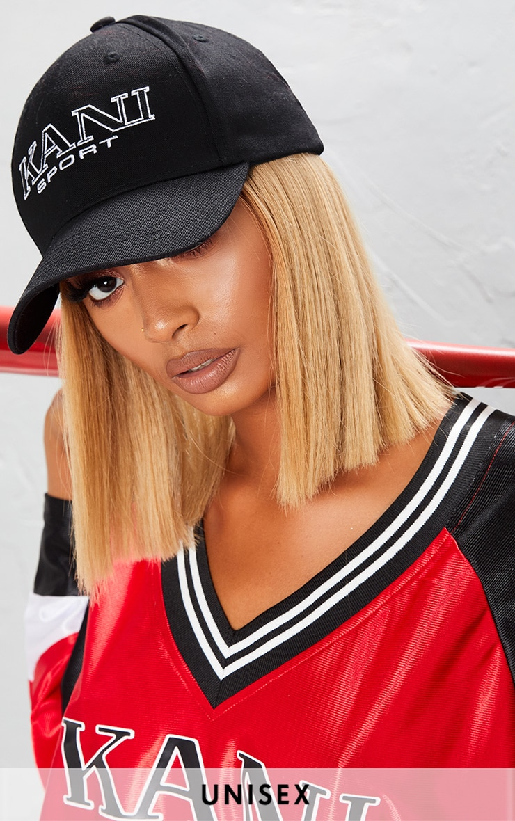 KARL KANI Monochrome Embroidered Baseball Cap image 1 b7cd168881a