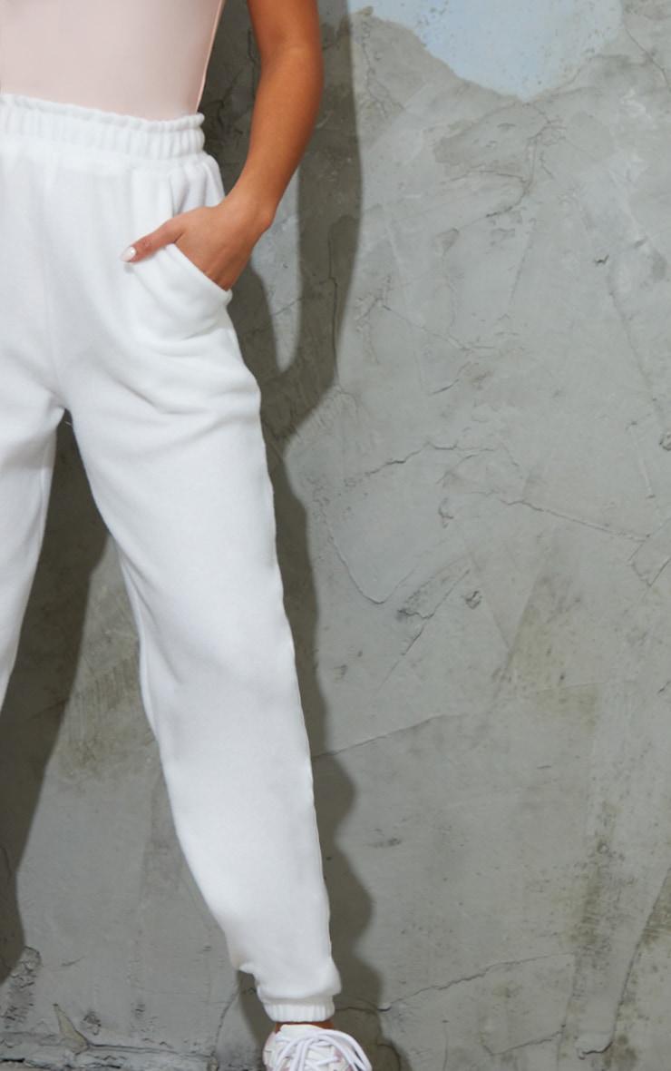Petite White Brushed Sweat Oversized Jogger 4