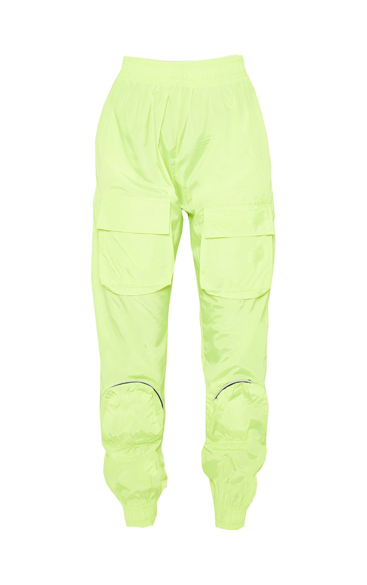 Neon Lime Shell 3D Pocket Detail Jogger 4