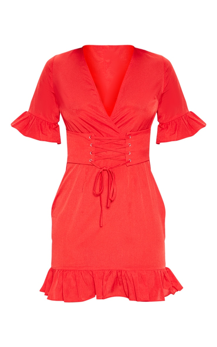 Red Corset Swing Dress 3