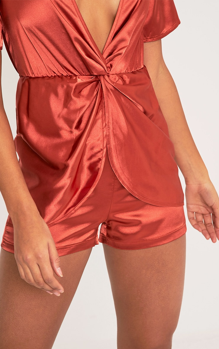 Hilary Tobacco Knot Front Playsuit 7