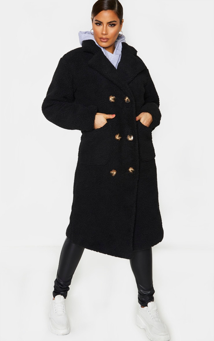 Tall Black Borg Midi Coat 1