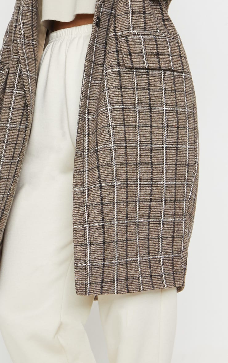 Brown Checked Coat 5