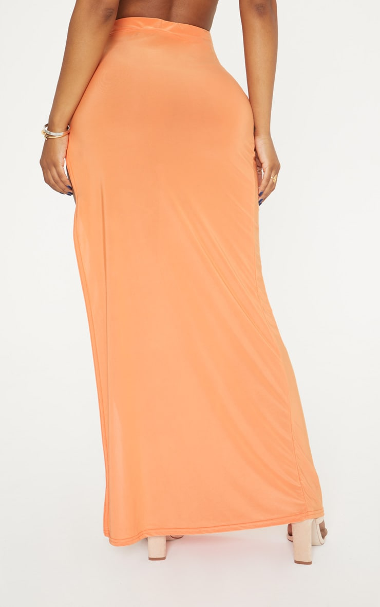 Shape Orange Extreme Side Split Midi Skirt 4