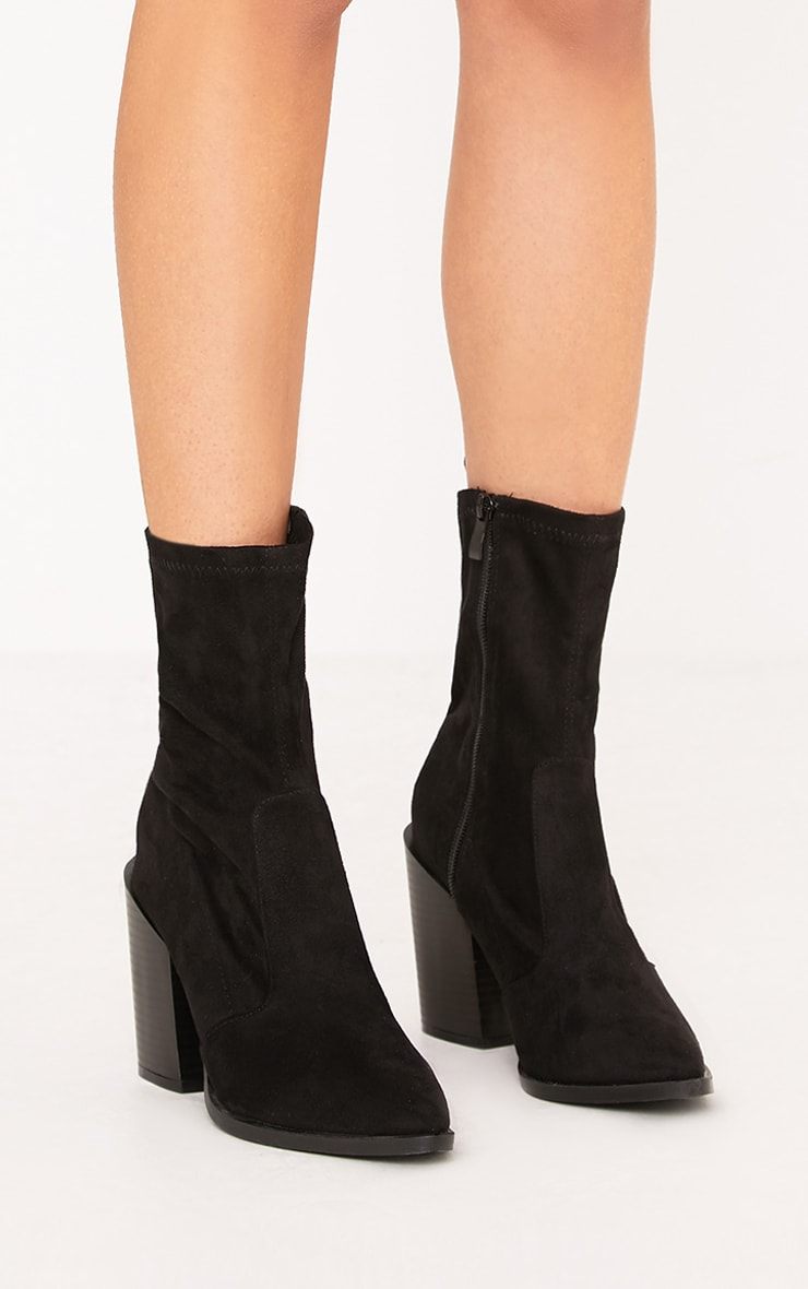 Danica Black Western Sock Boots 3