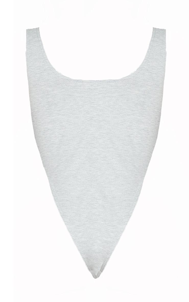 Shape Grey Cotton Cup High Leg Bodysuit 6