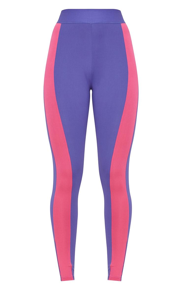 Purple Contrast Gym Leggings 3
