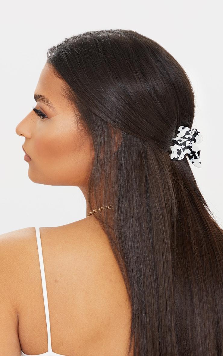 Black Marble Butterfly Hair Clip 1