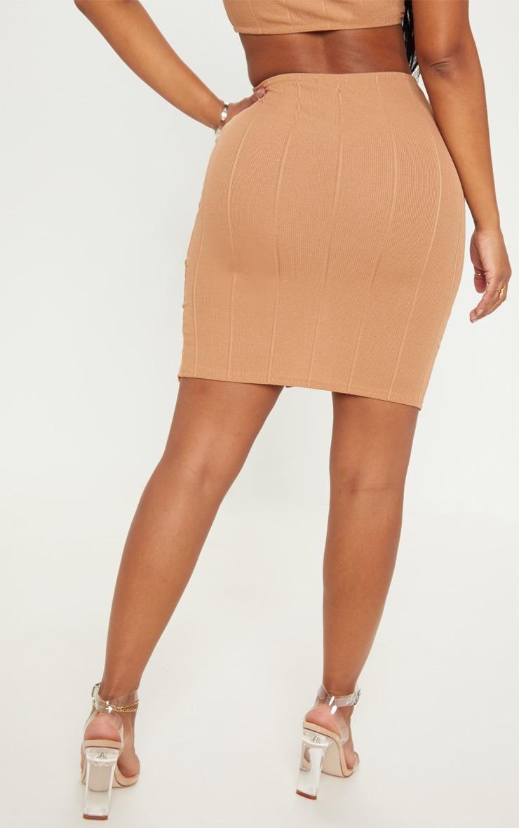 Shape Camel Bandage Bodycon Skirt 4