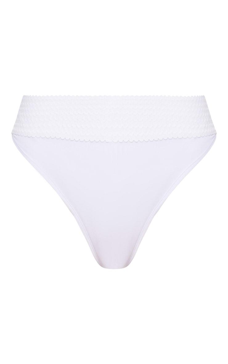 White Bandage Detail Bikini Bottom 7