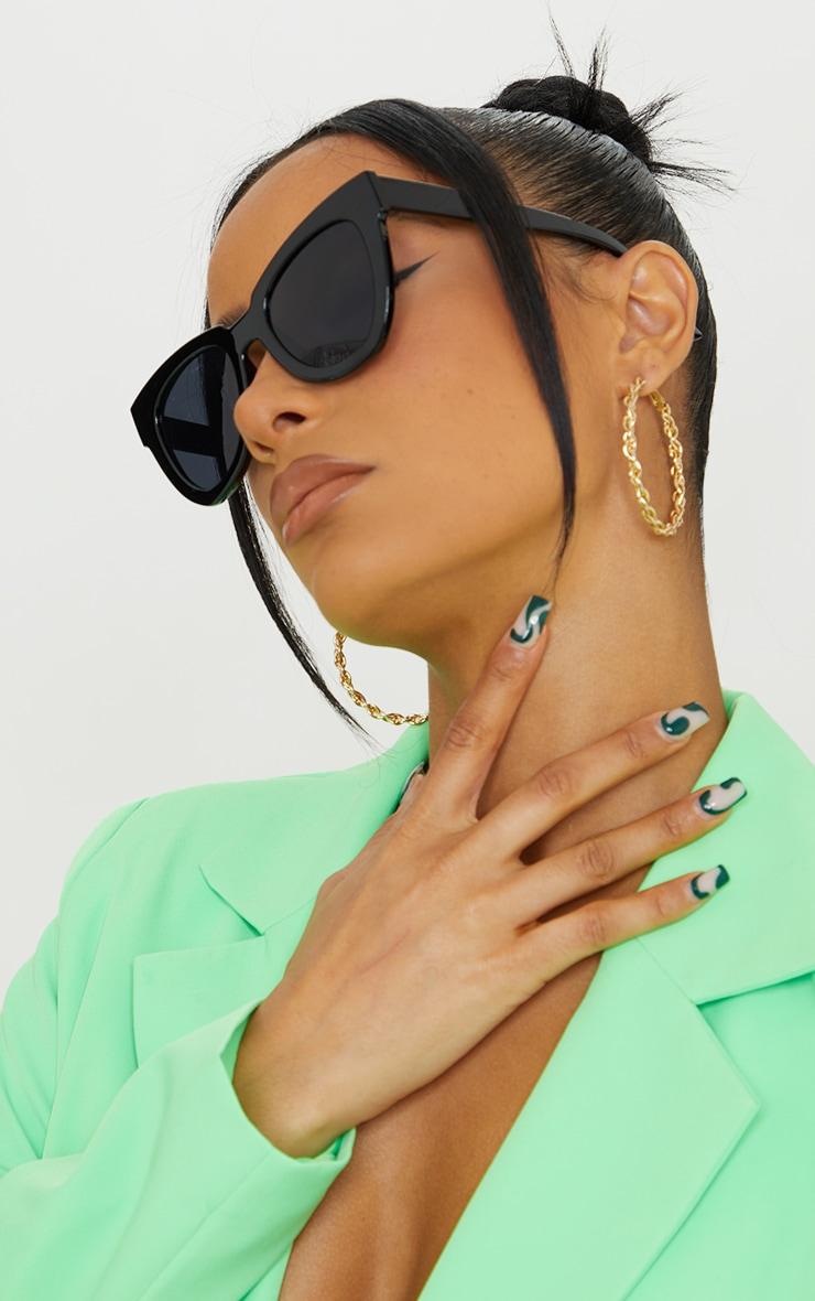 Black Winged Sunglasses 1