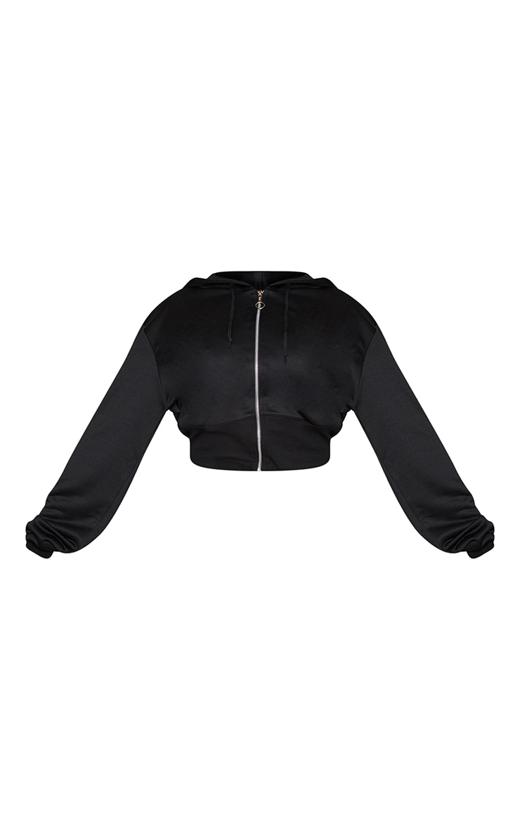 Plus Black Zip Up Bustier Hoodie 5