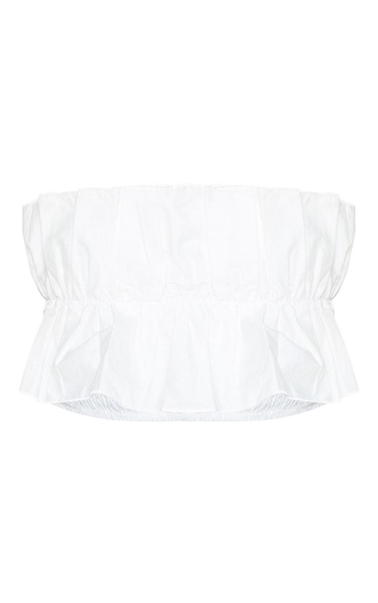 Petite White Frill Detail Bandeau 3