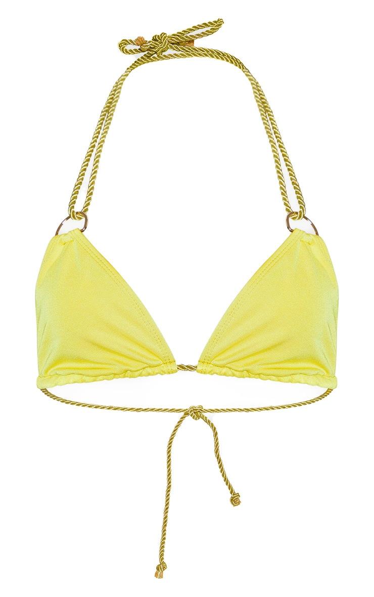 Olive Strappy Rope Bikini Top 3