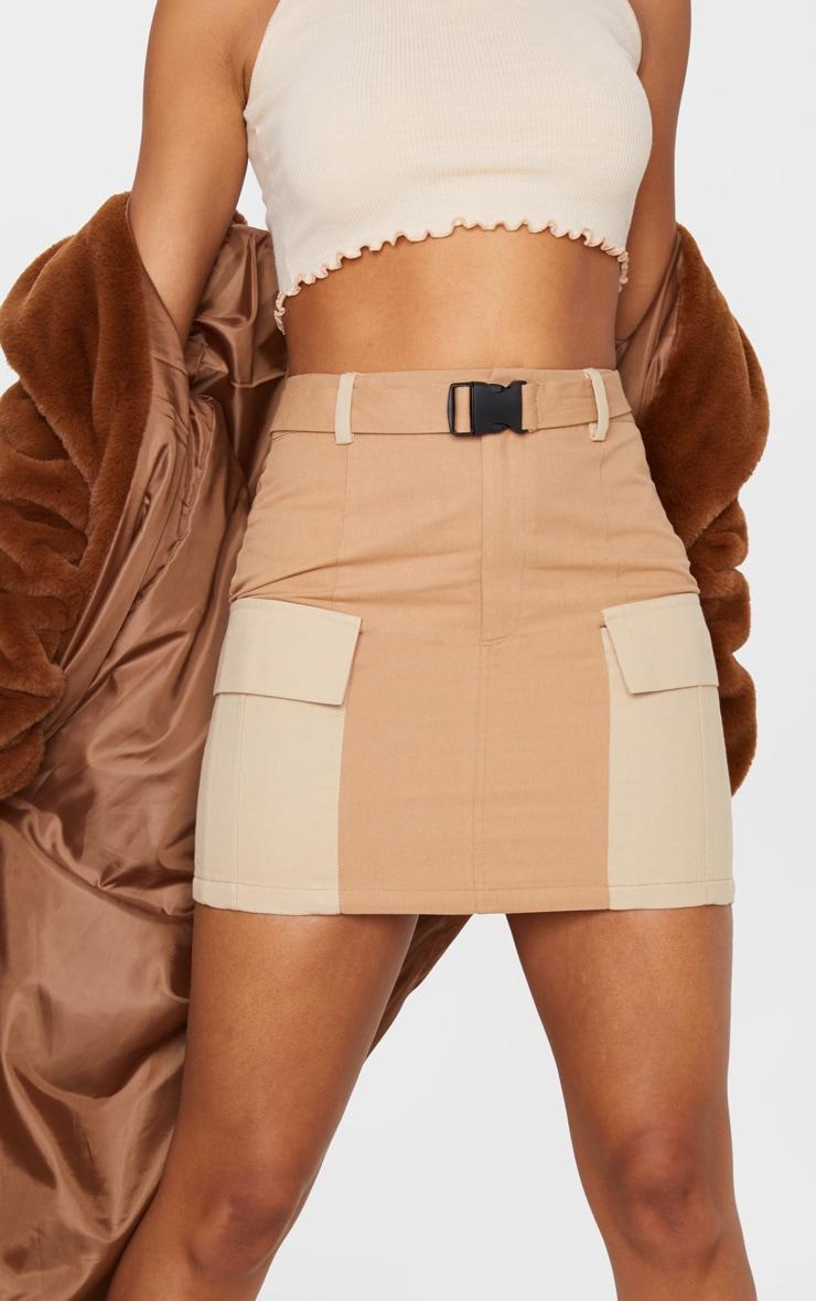 Stone Cargo Pocket Belted Mini Skirt 6