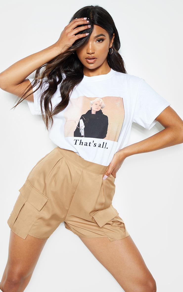 T-shirt oversize blanc imprimé Le Diable s'Habille en Prada à slogan That's All 4