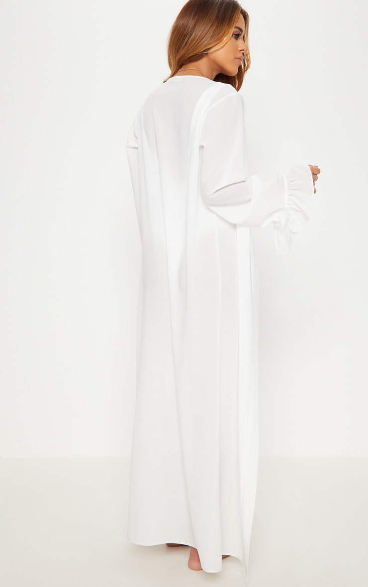 Petite - Kimono blanc à manches volantées 2
