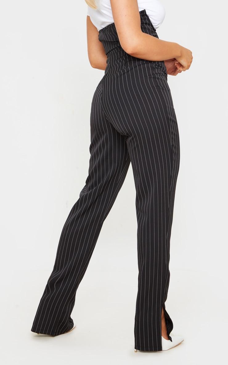 Black Pinstripe Underwire Bandeau Jumpsuit 3