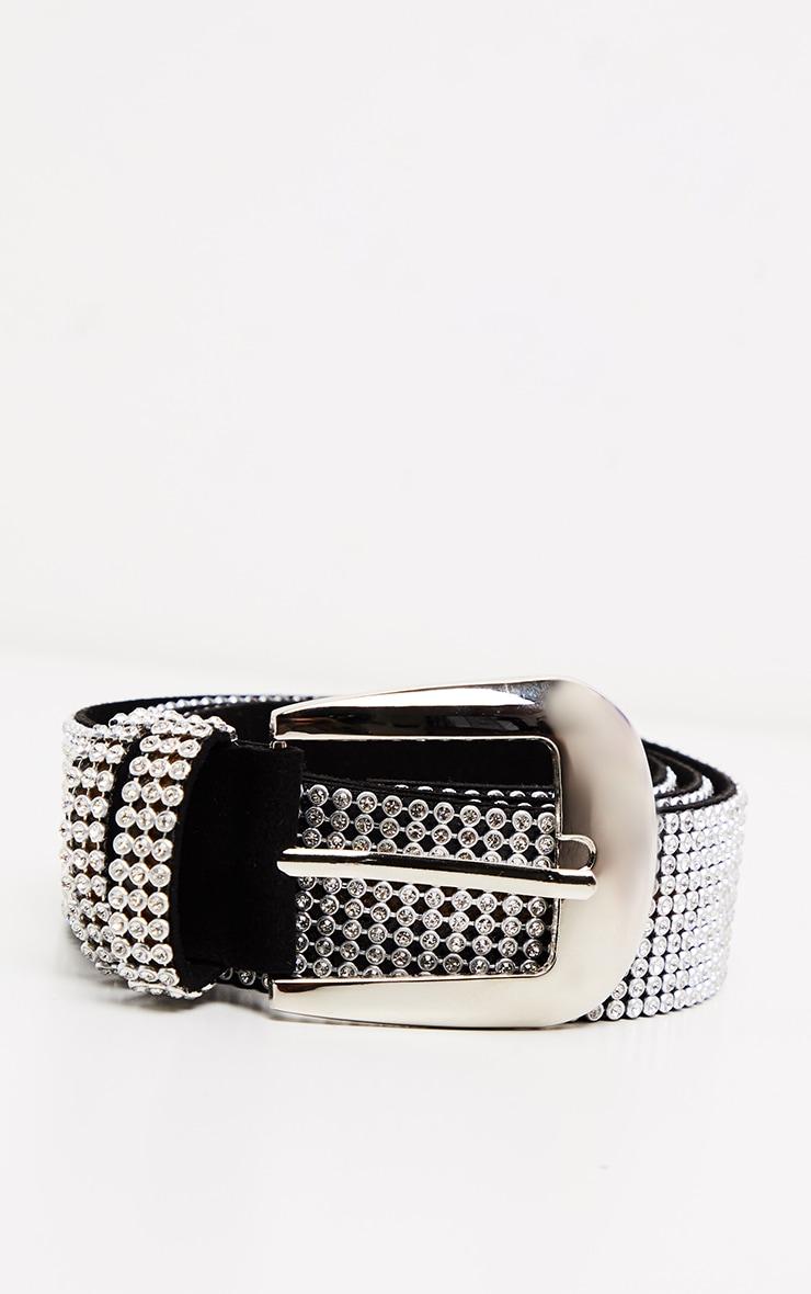 Black Diamante Stud Belt 2