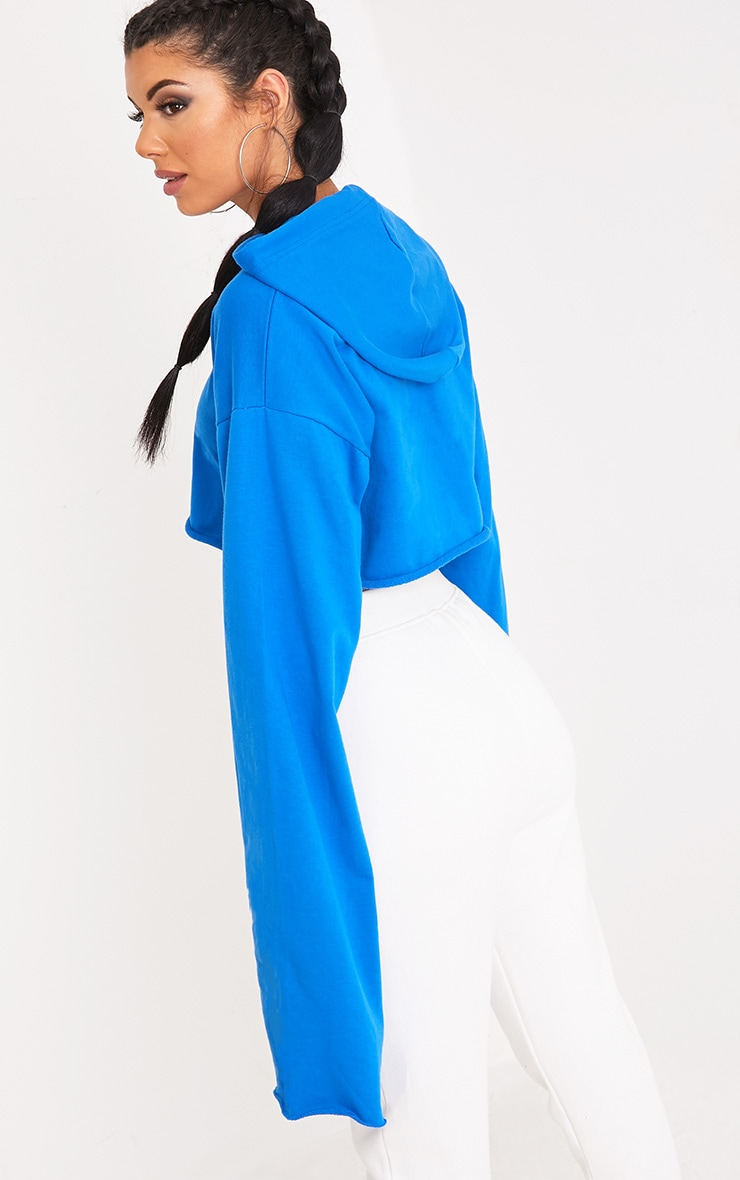 Daniela Bright Blue Extreme Longsleeve Hoodie 2