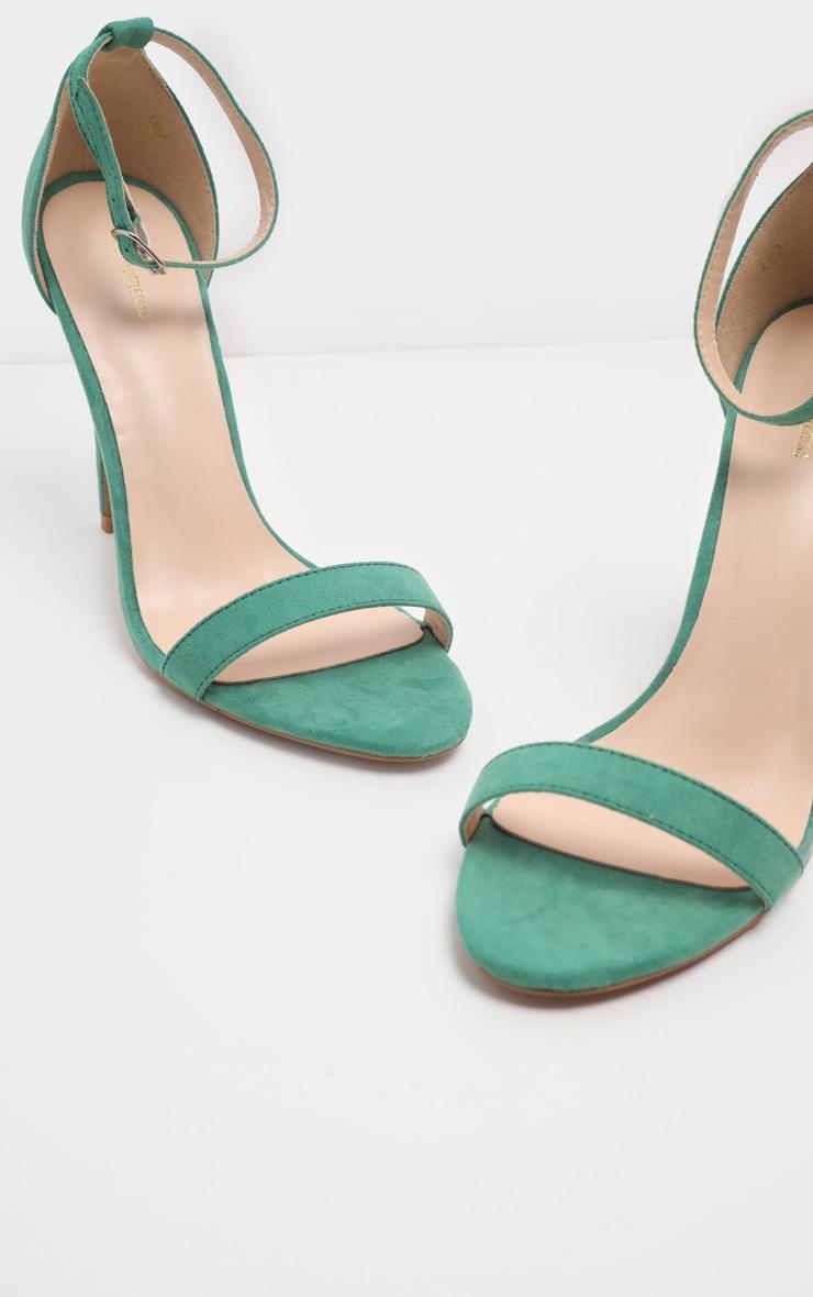 Green Clover Strap Heeled Sandal 3