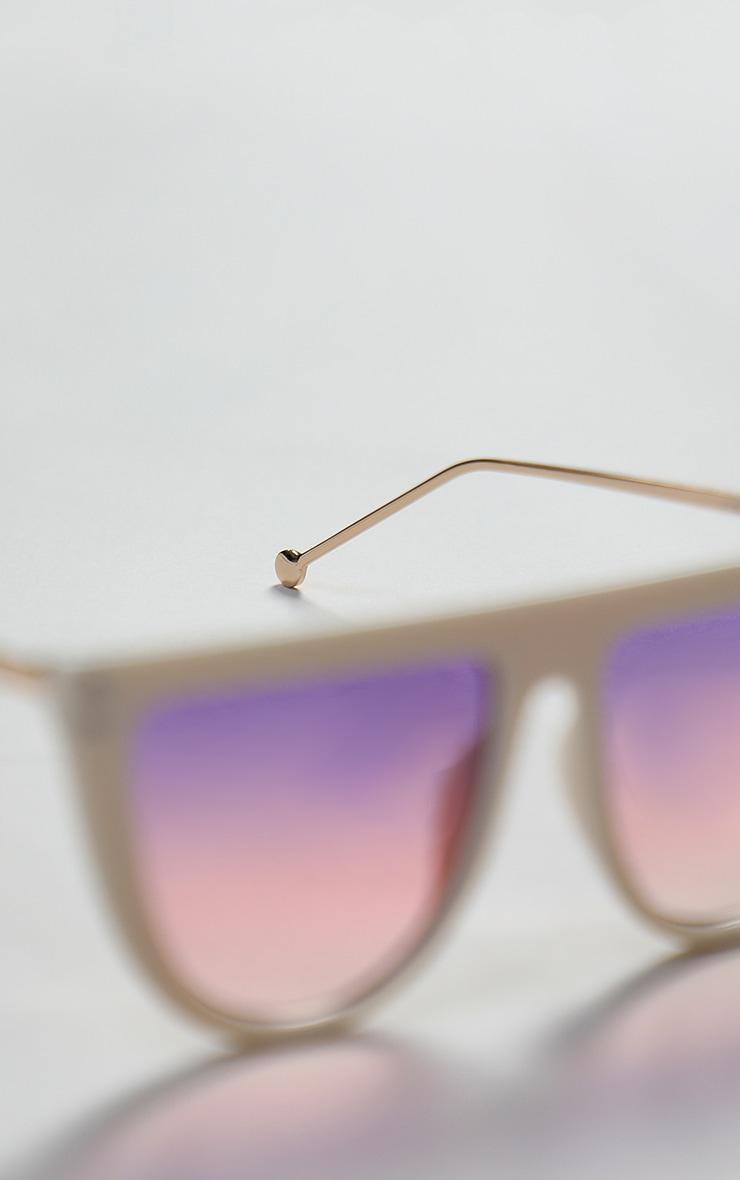 Pink Flat Bar Round Edge Sunglasses 3