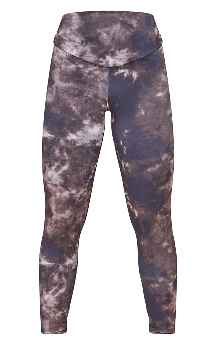 Chocolate Tie Dye High Waisted Sport Leggings 5