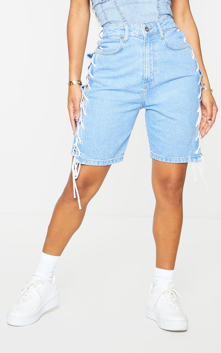 Shape - Short en jean vintage à lacets 2