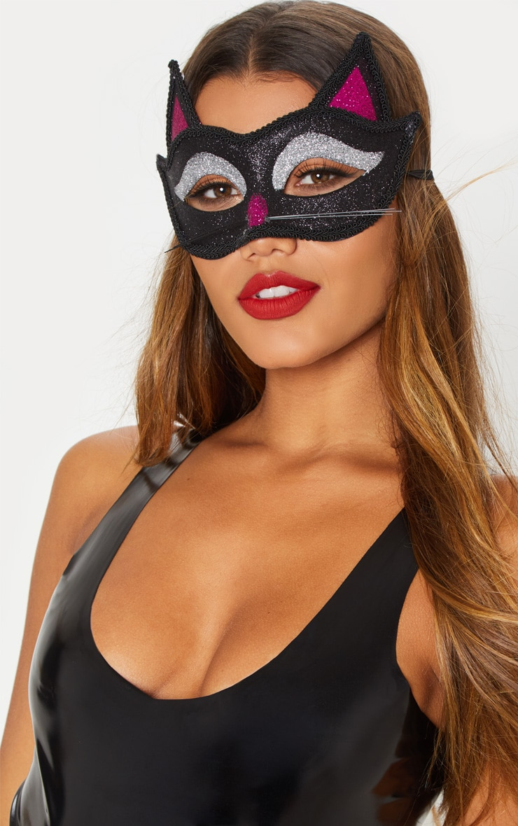 Adult Cat Glitter Eye Mask