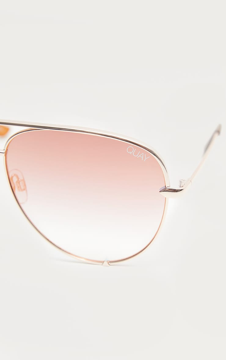 QUAY AUSTRALIA Rose X Desi Collaboration High Key i Sunglasses 5