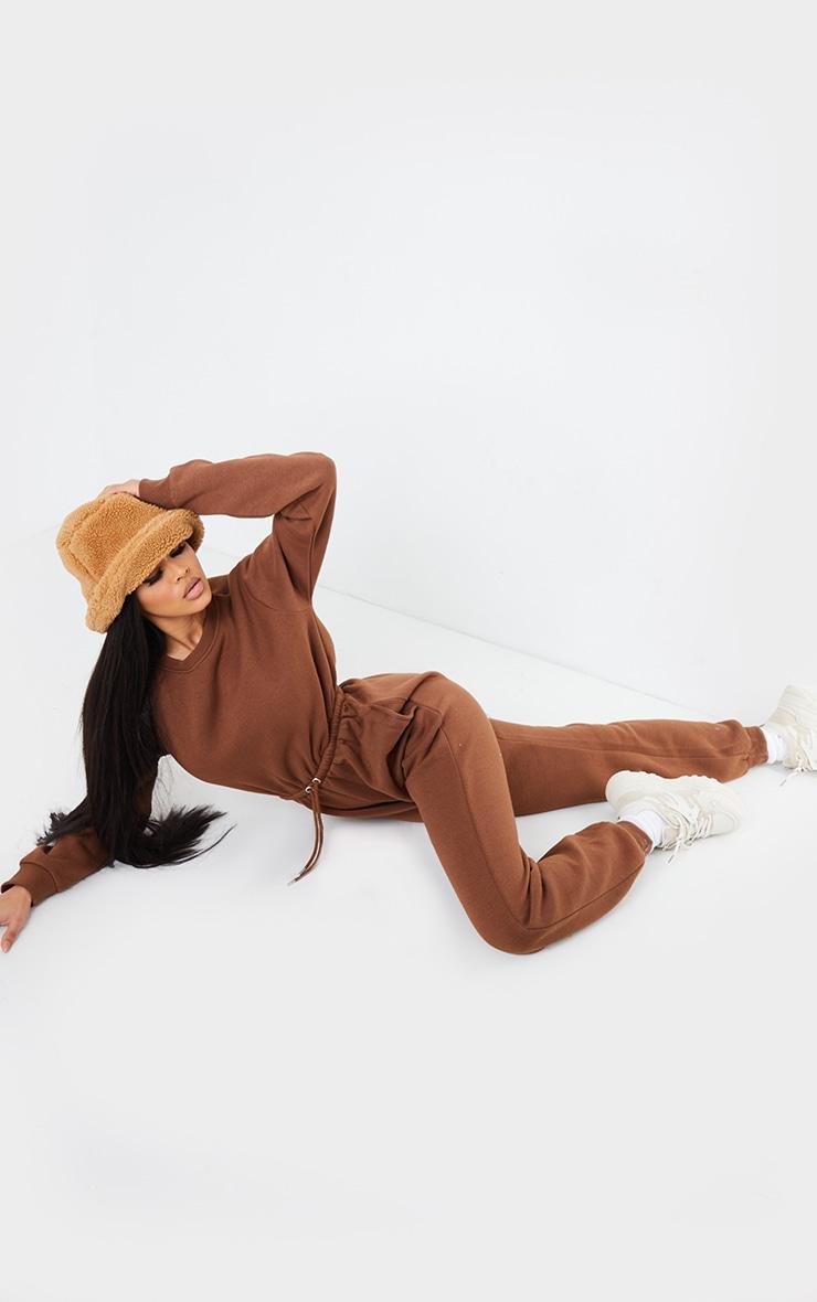 Chocolate Sweat Jumpsuit 3