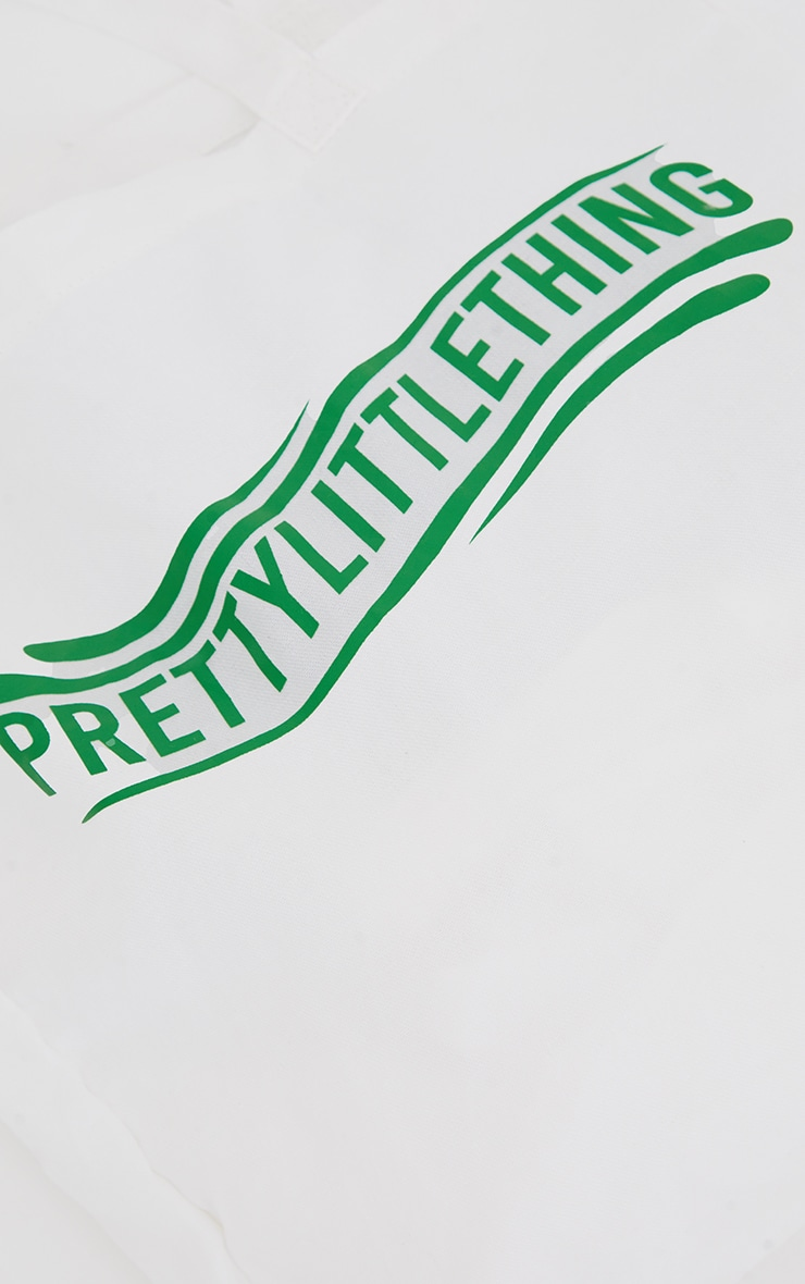 PRETTYLITTLETHING Green Wave Tote Bag 4