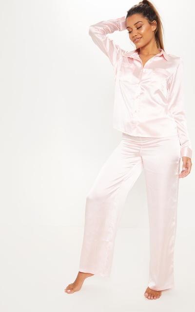 c364b8d52a Pink Wide Leg PJ Set