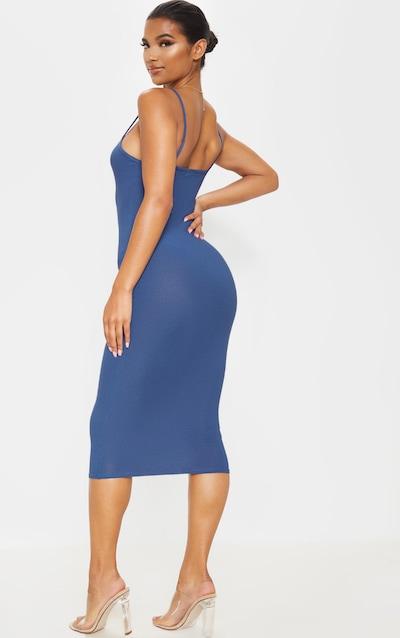 Midnight Blue Strappy Midi Dress