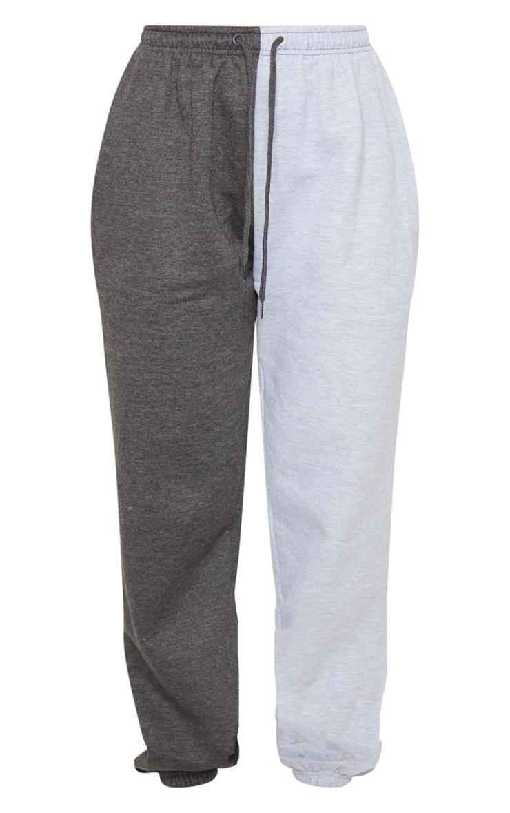 Grey Contrast Leg Joggers 5