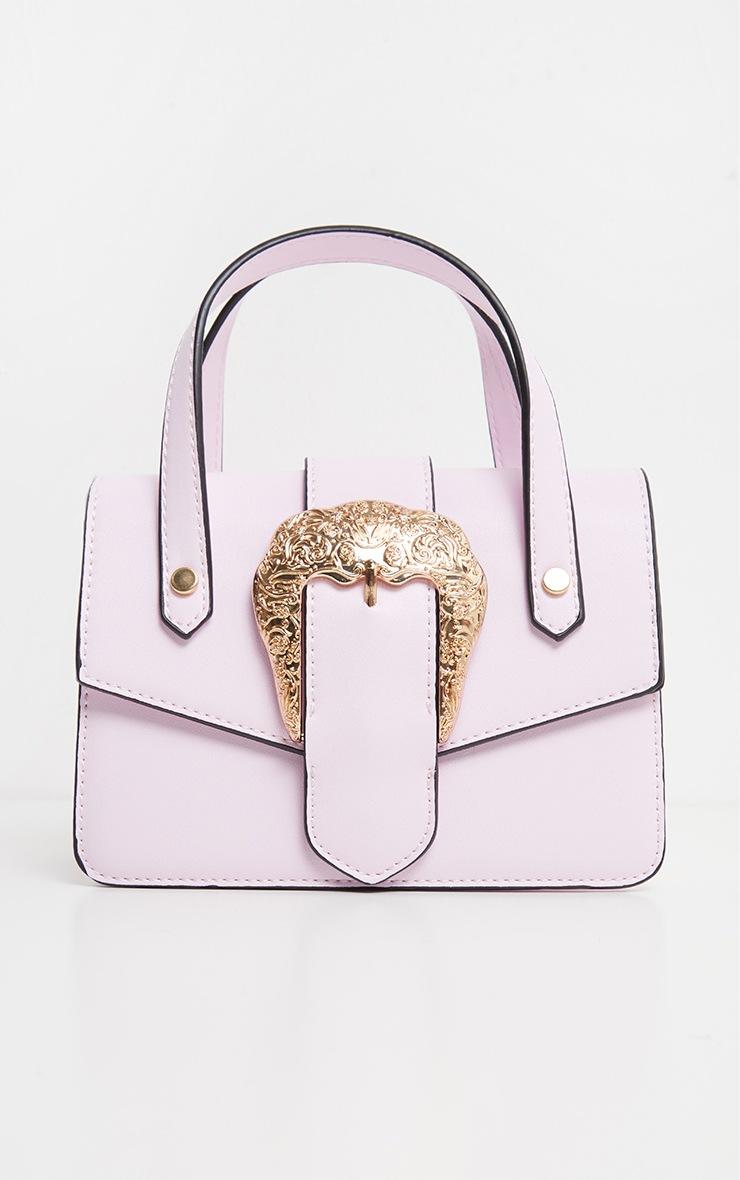 Lilac PU Ornate Buckle Trim Mini Bag 2