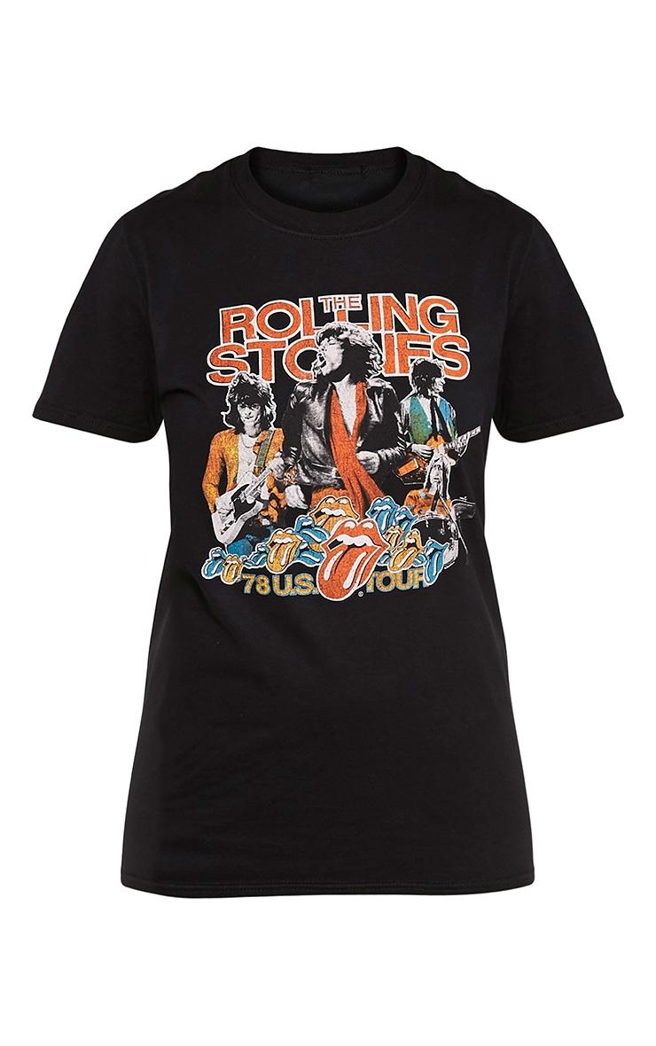 T-shirt boyfriend noir Rolling Stones 3