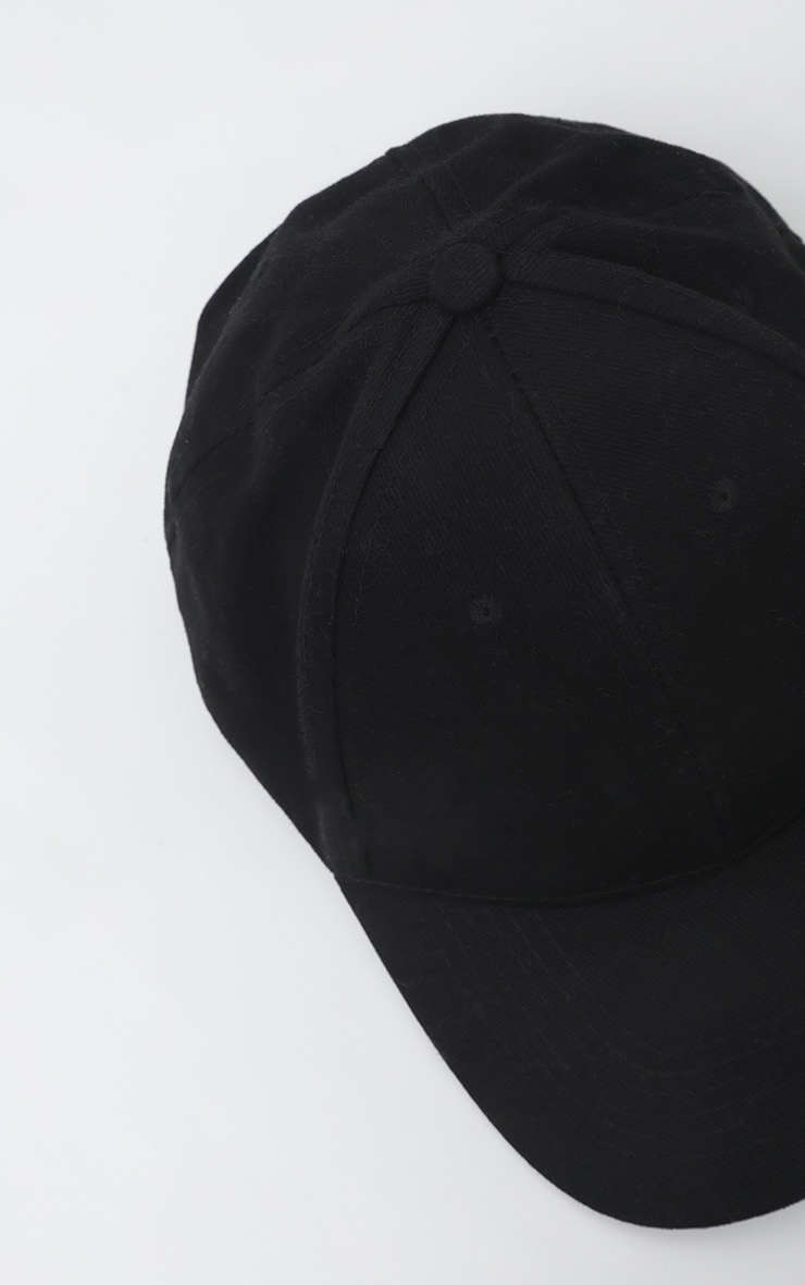 Black Plain Baseball Cap 4
