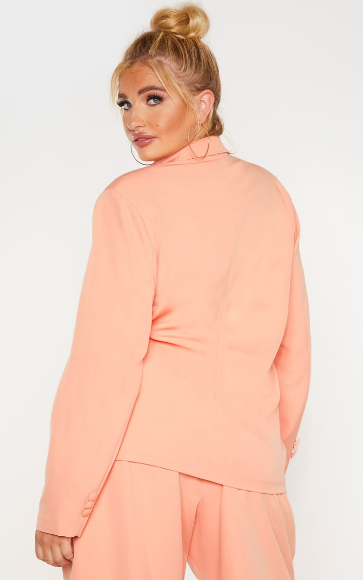 Plus Peach Oversized Blazer 2