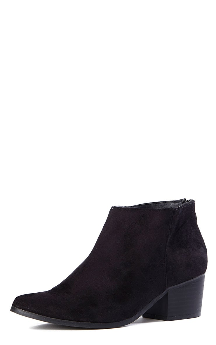 Rissa Black Pointed Suede Ankle Boots 5